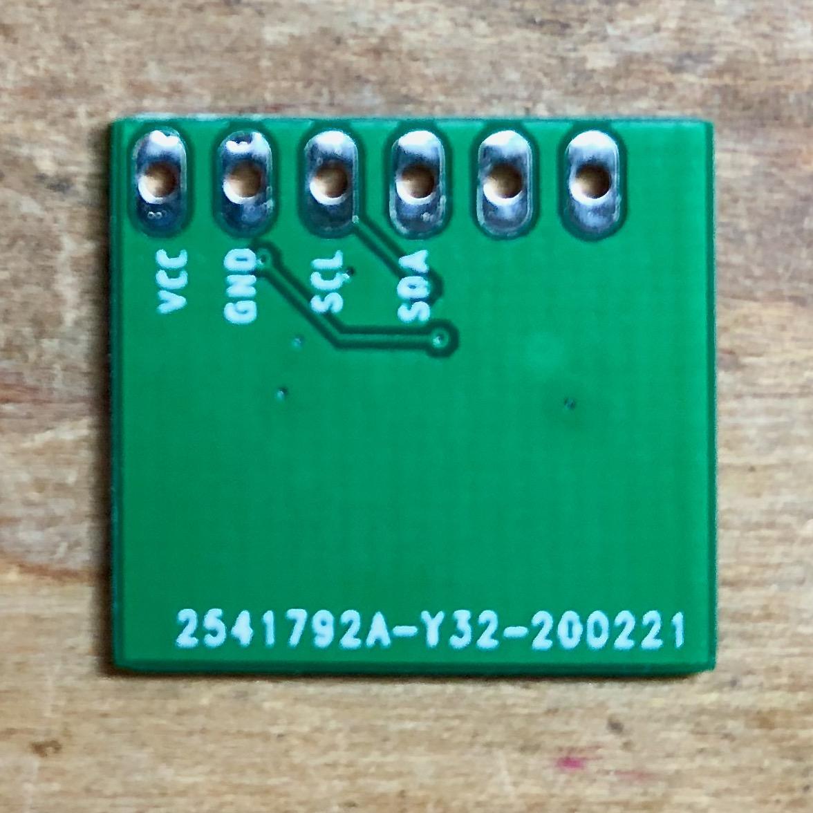Sensor 6 Daughterboard Bottom